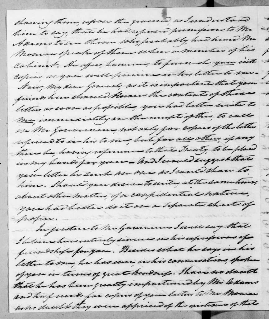 William Berkeley Lewis to Andrew Jackson, January 4, 1845
