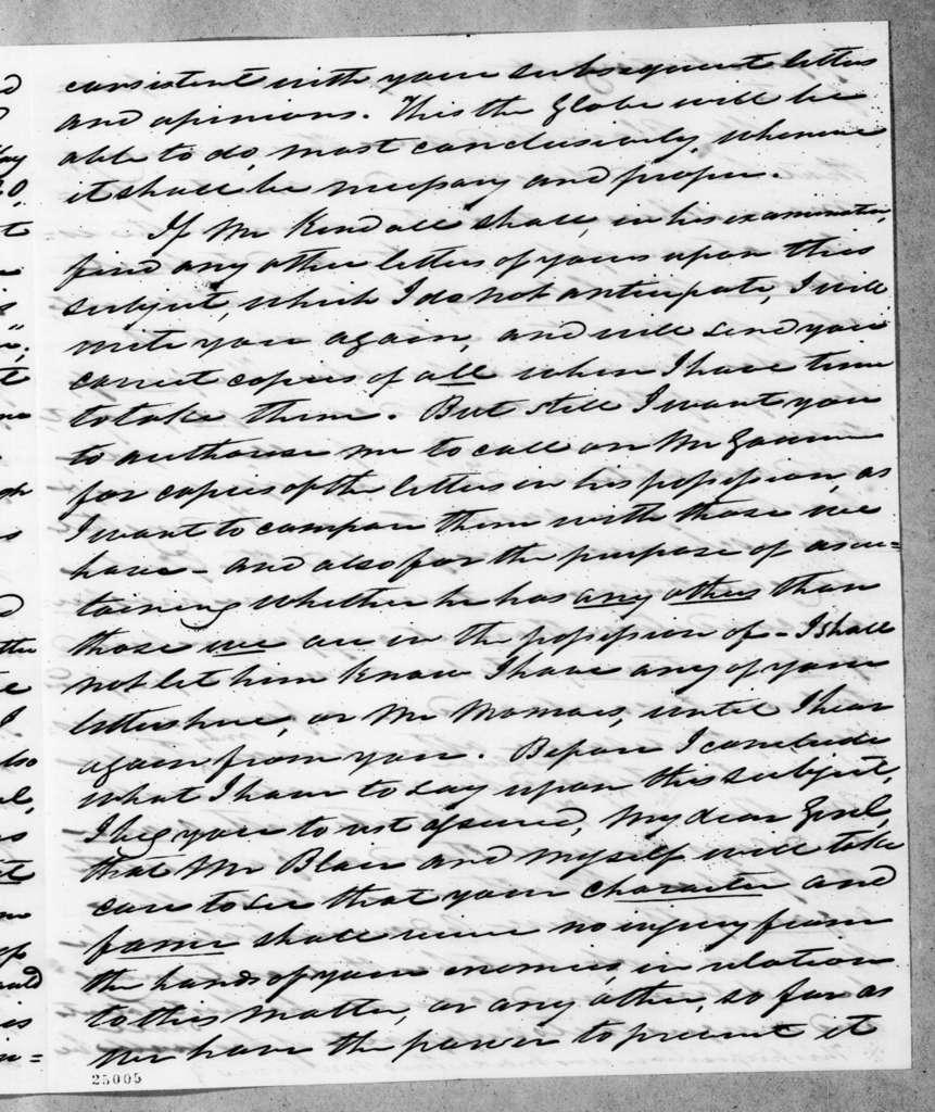 William Berkeley Lewis to Andrew Jackson, January 6, 1845
