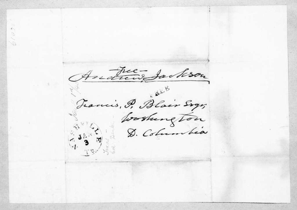 William Holdredge to Andrew Jackson, January 9, 1845