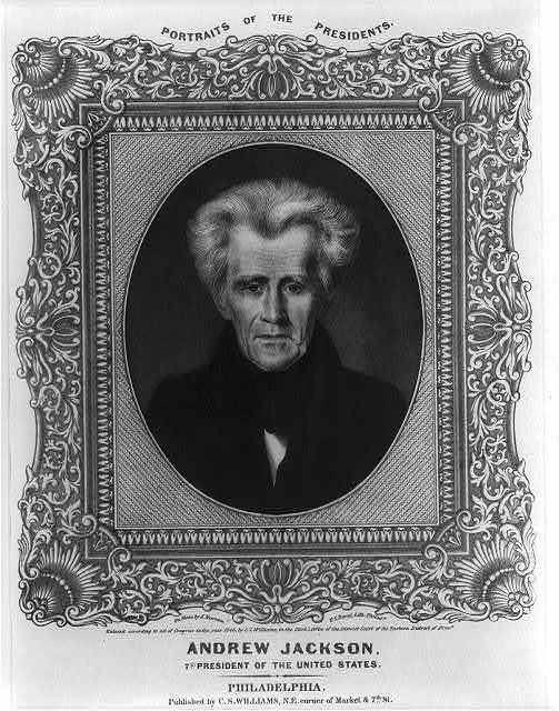 Andrew Jackson, 7th president of the United States / on stone by A. Newsam ; P.S. Duval, Lith. Philada.