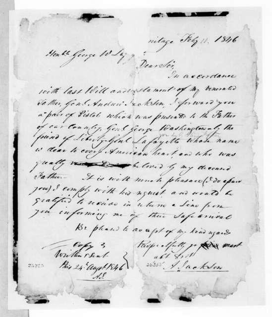 Andrew Jackson, Jr. to George Washington Lafayette, February 11, 1846