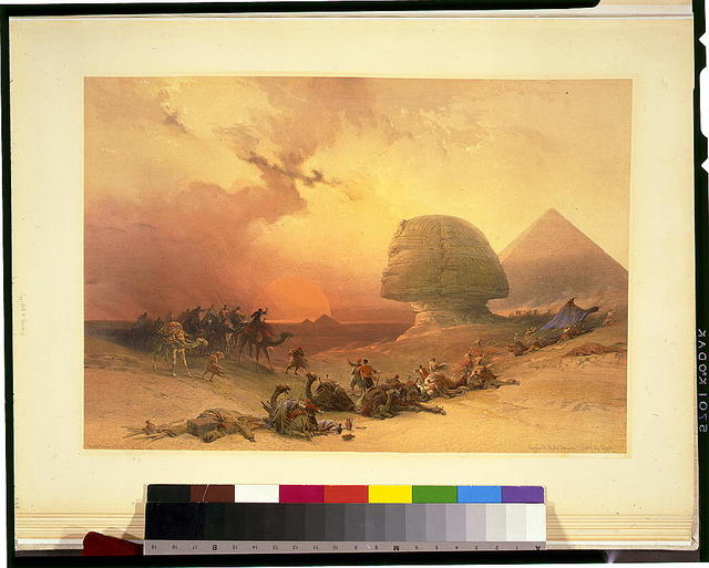 Approach of the simoom--desert of Gizeh / David Roberts, R.A.