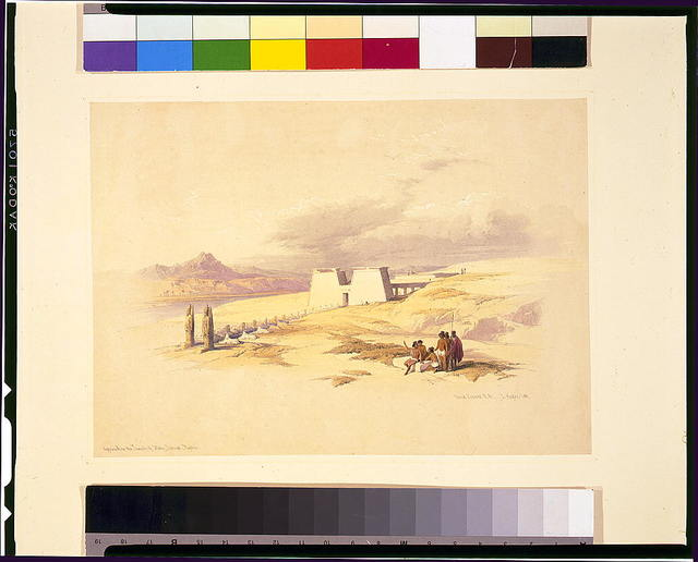 Approach of the Temple of Wady Saboua--Nubia / David Roberts, R.A.