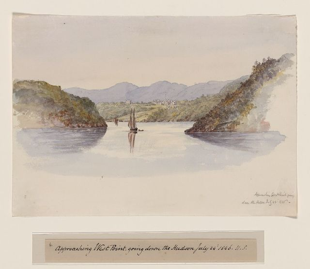 Approaching West Point, going down the Hudson, July 24, 1846