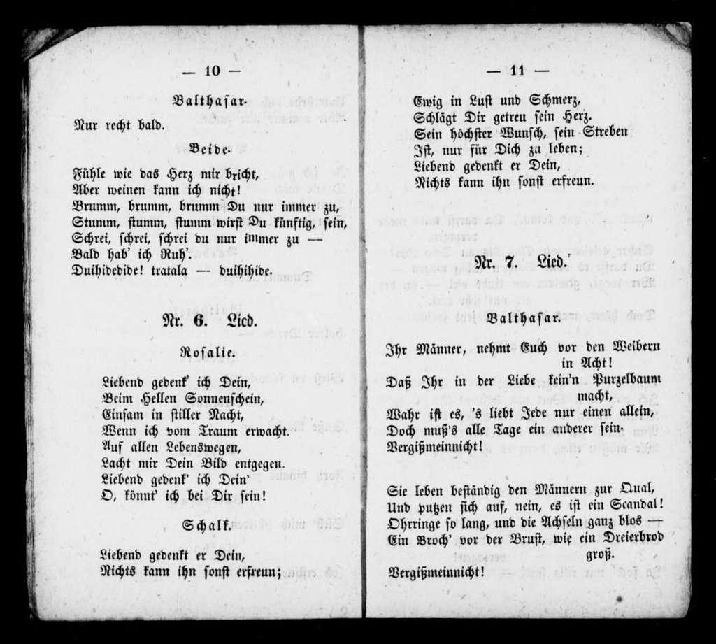 Artesische Brunnen. Libretto. Libretto. German