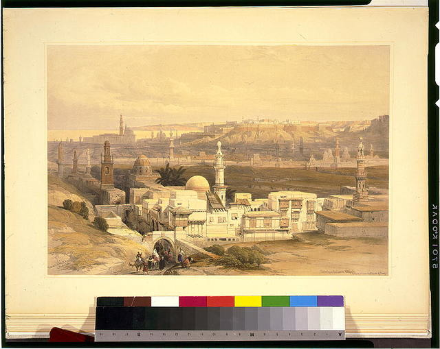 Cairo from the gate of Citizenib, looking toward the desert of Suez / David Roberts, R.A.