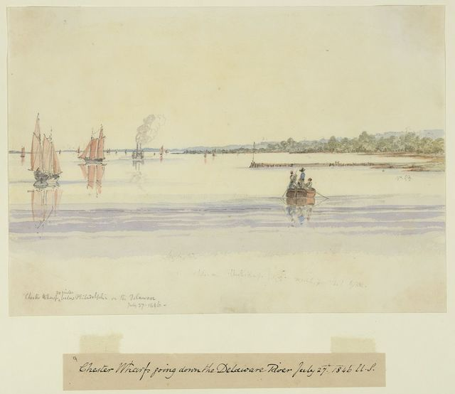 Chester Wharf 20 miles below Philadelphia on the Delaware, July 27, 1846