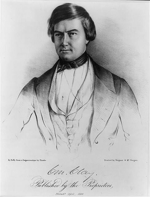 Cm. Clay / by Hoffy, from a daguerreotype by Plumbe ; printed by Wagner & McGuigan.