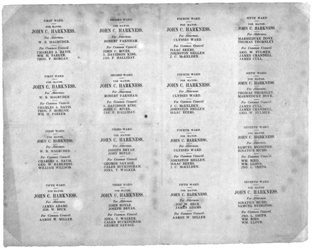 [Election ballot for 1846].