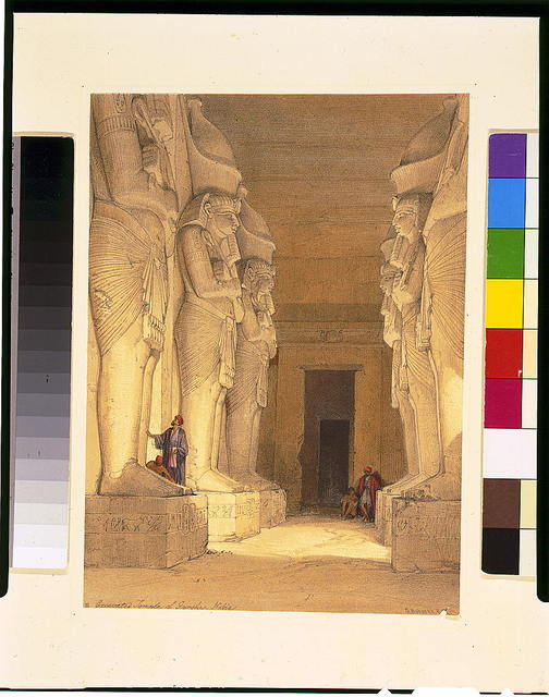 Excavated Temple of Gyrshe, Nubia / David Roberts, R.A.
