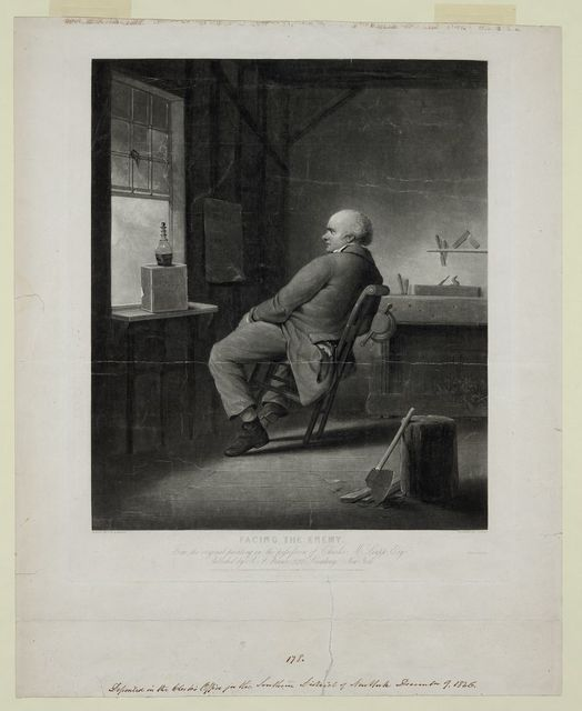 Facing the enemy / painted by F.W. Edmonds ; engraved by T. Doney.