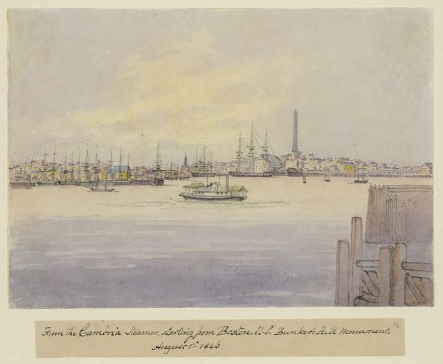 From the Cambria steamer, starting from Boston, U.S. Bunker's Hill Monument