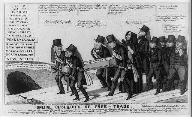 Funeral obsequies of free-trade