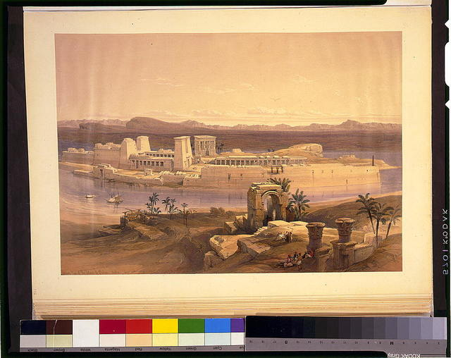 General view of the island of Philae Nubia Nov 18th 1838 / David Roberts, R.A.