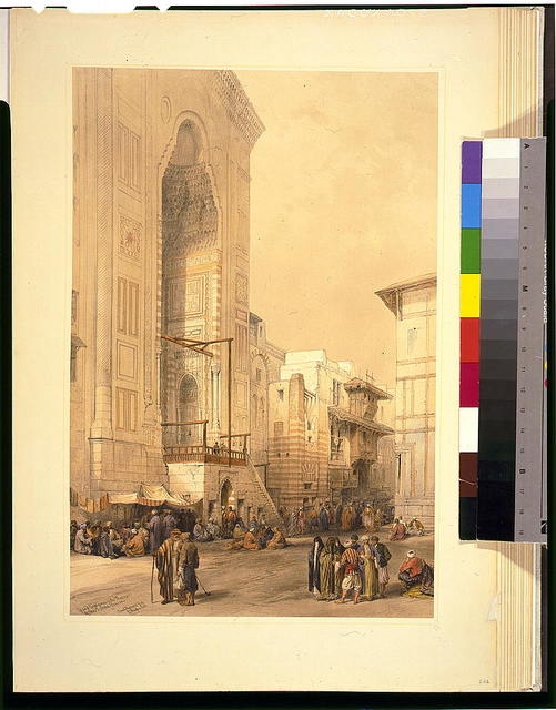 Grand entrance to the mosque of the Sultan Hassan / David Roberts, R.A.