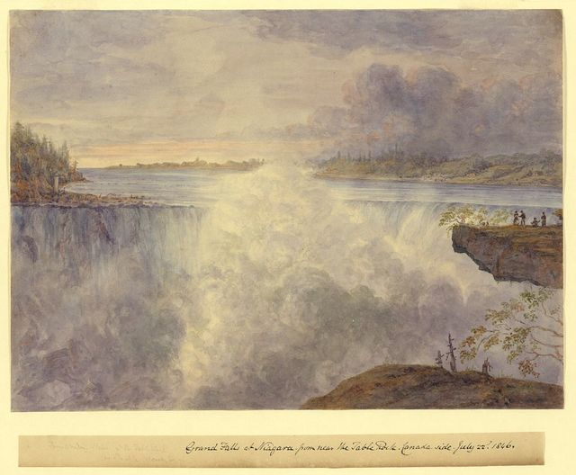 Grand Falls at Niagara from near the Table Rock, Canada side, July 22, 1846