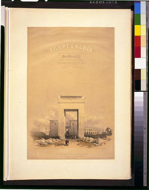 Great gateway, leading to the Temple of Karnac--Thebes / David Roberts, R.A.