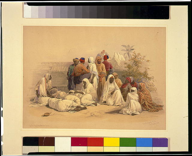 In the slave market of Cairo / David Roberts, R.A.