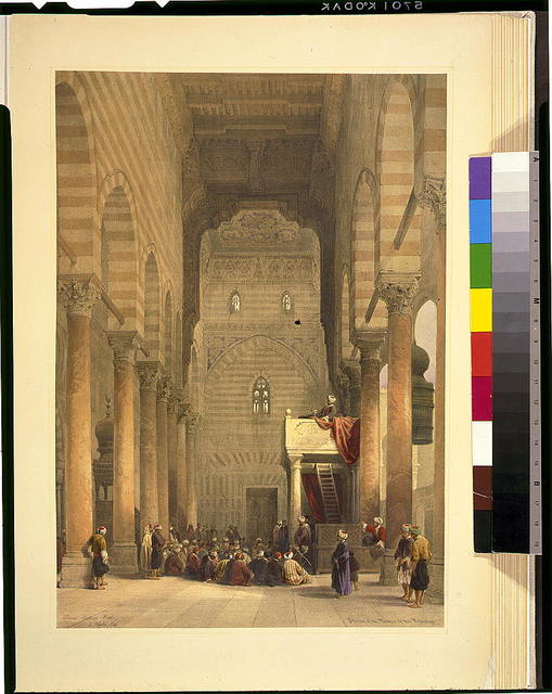 Interior of the mosque of the Metwalys / David Roberts, R.A.