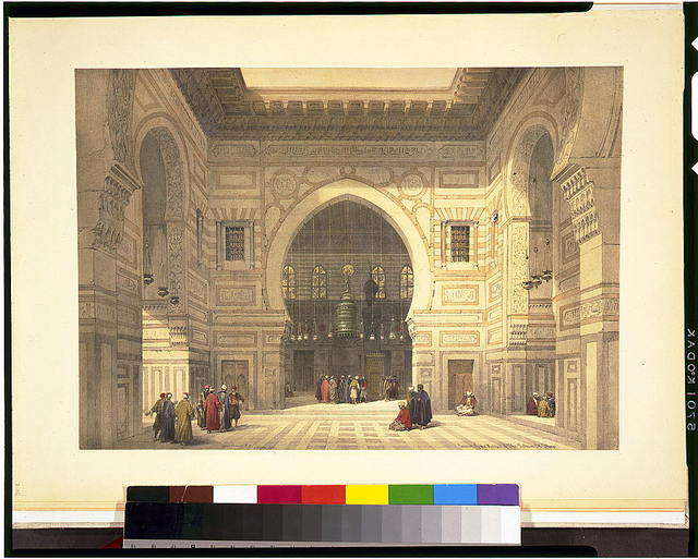 Interior of the mosque of the Sultan El Ghoree / David Roberts, R.A.