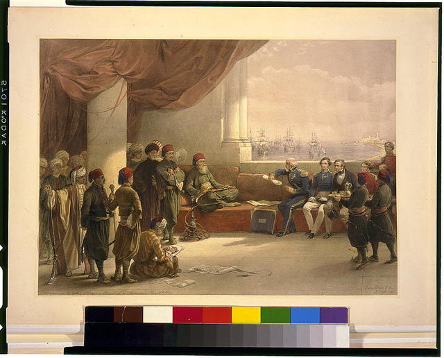 Interview with the Viceroy of Egypt at his palace at Alexandria / David Roberts, R.A.