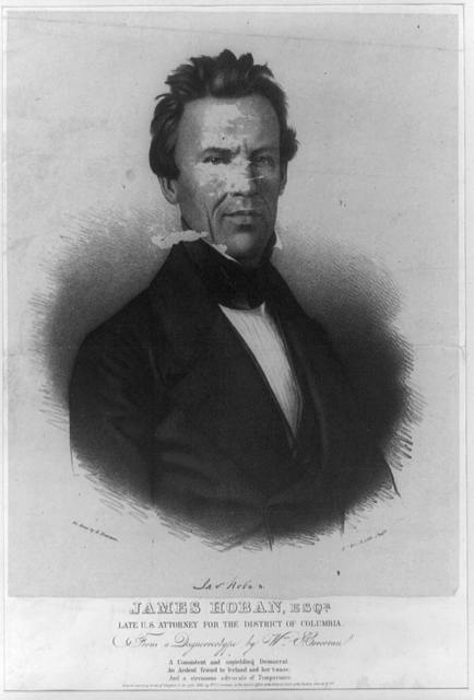 James Hoban, Esqr., late U.S. Attorney for the District of Columbia / on stone by A. Newsam.