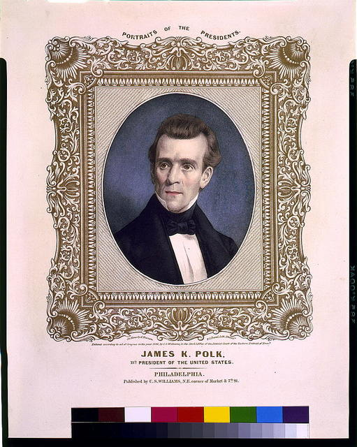 James K. Polk, 11th president of the United States / On stone by A. Newsam ; P.S. Duval, lith., Philada.