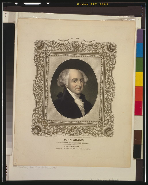 John Adams, 2nd president of the United States / on stone by A. Newsam; P.S. Duval, lith., Philada.
