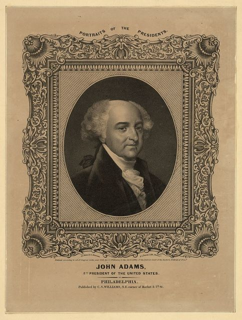 John Adams, 2nd President of the United States / on stone by A. Newsam ; P.S. Duval Lith., Philad'a.