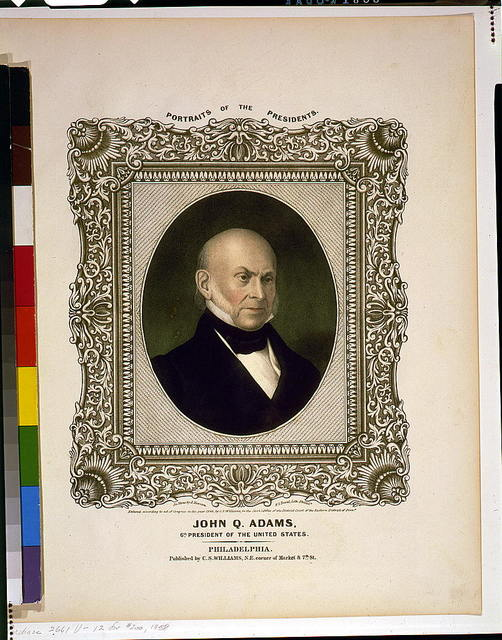 John Q. Adams, 6th President of the United States / On stone by A. Newsam ; P.S. Duval, Lith. Philada.