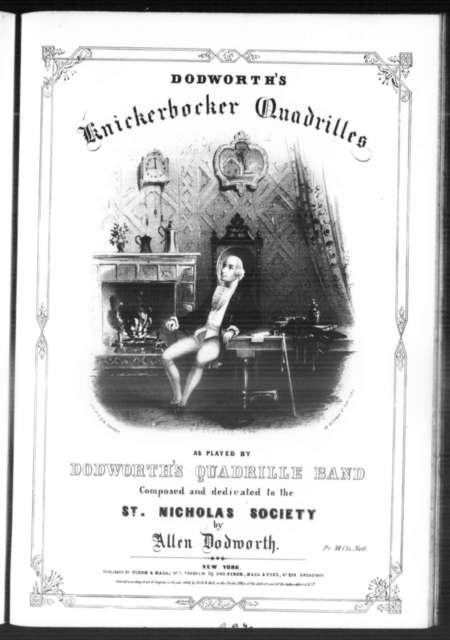 Knickerbocker quadrilles: St. Nicholas; Ploffe; Wouter van Twyller; Van Corlier; Peter Stuyvesant