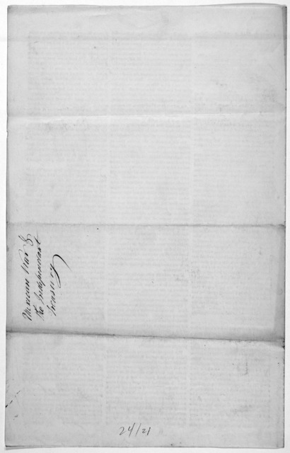 [Letter of Jacob Barker dated New Orleans May 8, 1846].