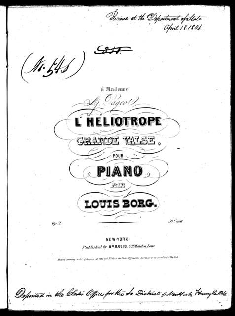 L'hľiotrope, op. 2