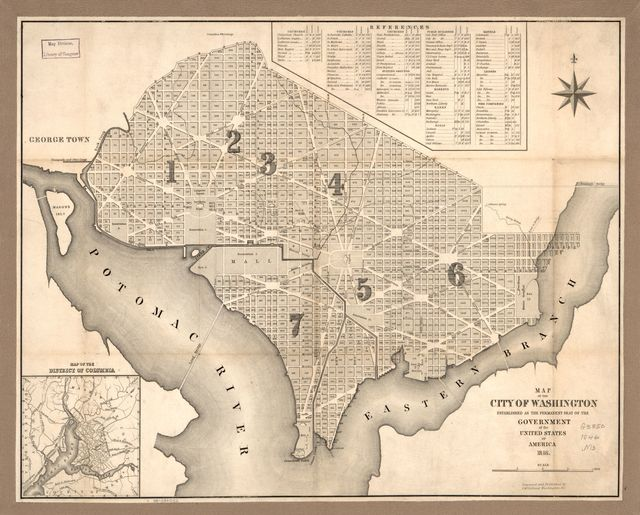 Map of the city of Washington : established as the permanent seat of the government of the United States of America /