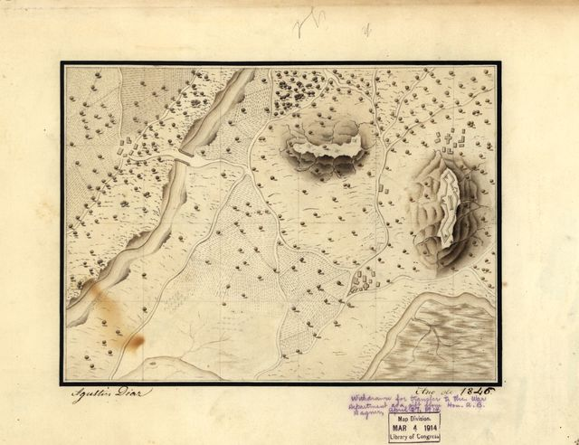 [Military training map, Mexico].