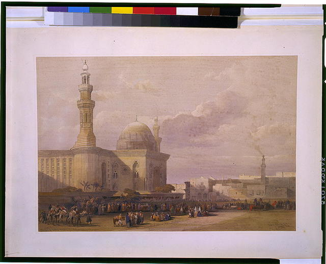 Mosque of Sultan Hassan from the Great Square of the Rumeyleh / David Roberts, R.A.