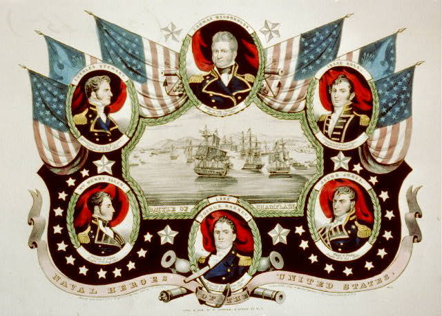 Naval heroes of the United States: no. 2 / lith. & pub. by N. Currier.