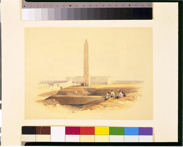 Obelisk at Alexandria commonly called Cleopatra's needle / David Roberts, R.A.