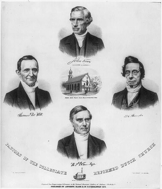 Pastors of the Collegiate Reformed Dutch Church / on stone by C. Parsons ; G. & W. Endicott, lith., New York.