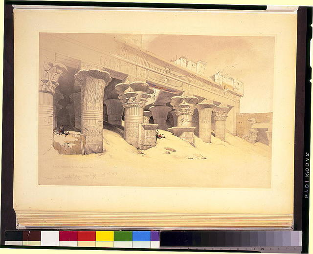 Portico of the Temple of Edfou--upper Egypt Novr 23rd 1838 / David Roberts, R.A.