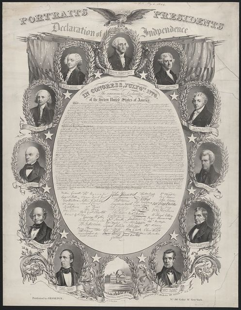 Portraits of the presidents / lithography of F. Michelin.