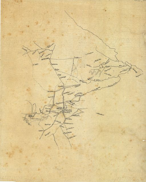 [Sketch of area of northeastern Mexico from Rio Grande to Parras].