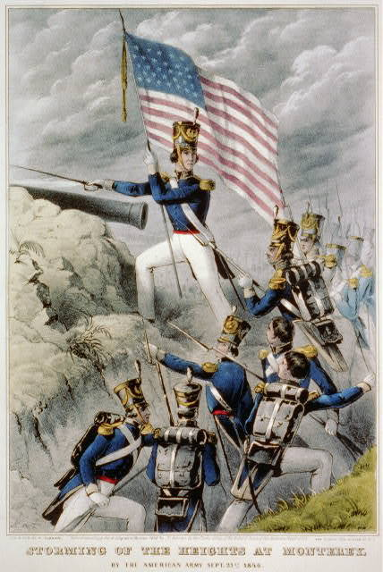 Storming of the heights at Monterey: by the American Army Sept. 21st. 1846