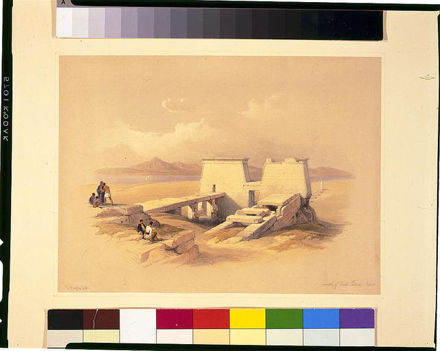 Temple of Wady Saboua, Nubia / David Roberts, R.A.