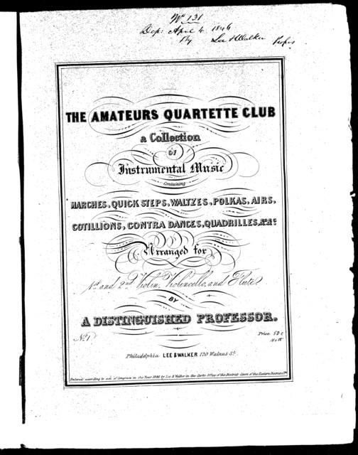 The  amateurs quartette club, no. 1