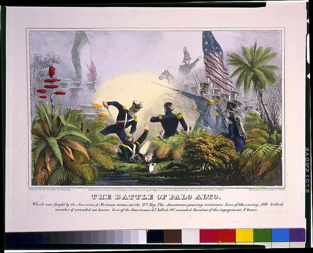 The Battle of Palo Alto--Which was fought by the American & Mexican armies, on the 8th May ... / lith. & pub. by Sarony & Major.