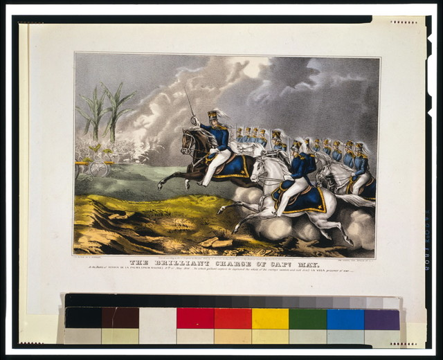 The brilliant charge of Capt. May--At the Battle of Resaca de la Palma (Palm Ravine) 9th of May 1846 [...]