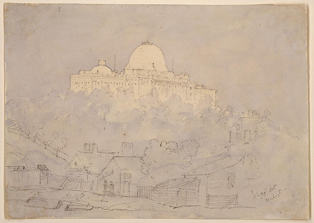 The Capitol from the railway station, Washington, U.S., July 29, 1846