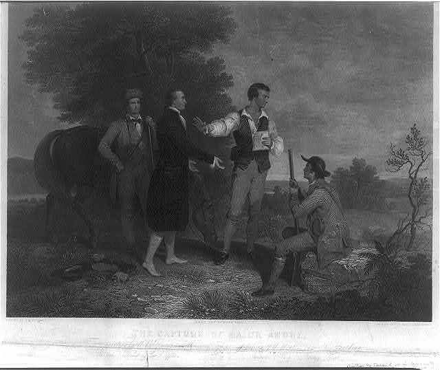 The capture of Major Andre / Painted by A.B. Durnad; Landscape eng.d by Smillie & Hinshelwood.