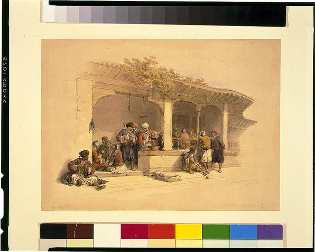 The coffee shop, Cairo / David Roberts, R.A.